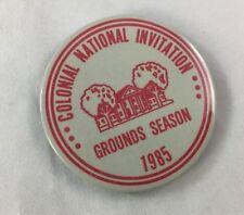 Orig Colonial Invitation Fort Worth Golf Tournament Badge Pin Ground Season 1985