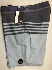 Quiksilver Mens Board Shorts Swim Suit 40 Gray Blue Cotton Polyester Spndx NEW