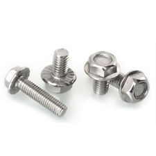 Hex Head Flange Bolts Cap Screws 304 Stainless Steel Select M4 M5 M6 M8 M10 M12
