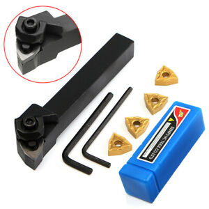 4Pcs WNMG0804 Inserts + Wrench With WWLNR1616H08 Lathe Turning Tool Holder
