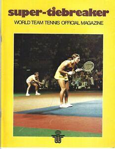 1977 Seattle-Portland Cascades World Team Tennis Program-  WTT #FWIL
