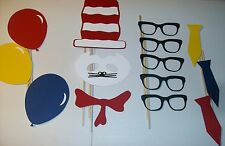 DIY- 28 Photo Booth Props Inspired by; Dr Seuss Cat in the Hat (2100D)