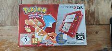 Nintendo 2DS Pokémon rouge red Dracaufeu édition 20th anniversary pal neuve