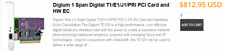 E1 Hardware PCI Digium Wildcard TE122B mit HW Echo cancellation