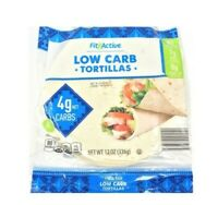 Fit & Active 32 Low Carb Tortillas 4 Net Grams Carbs Keto Wraps