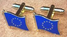 Europe Flag Cuff Links EU Europa European Euro Union Cufflinks