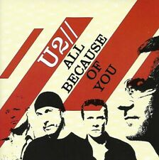 U2 - All Because of You : CD 2005 LIKE NEW UNPLAYED !!