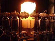 6 WIZARD WARES NATURE CHARM BOTTLES acorn caps tops GLASS JARS dried plants