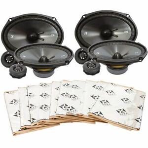 "2) Kicker 46CSS694 6x9"" Component Speaker System + NVX SDBP40 Sound Deadening"