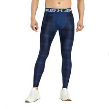 Under Armour UA HeatGear 2.0 Novlty Blue Mens Training Compression Leggings