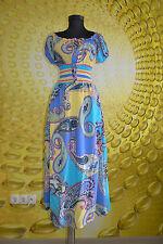 Paisley Short Sleeve Plus Size Maxi Dresses for Women