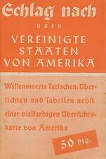 Buch Schlag nach Vereinigte Staaten von Amerika USA 1941 D 34 Seiten booklet