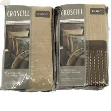 Croscill Cold Springs Brown Reversible Euro PillownSham Set Of Two