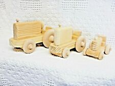 Wooden Toy Tractors (3)(OS)(Unfinished)