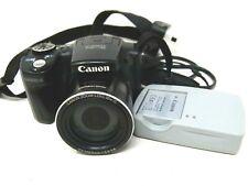 Canon PowerShot SX500 IS 16.0MP Cámara Digital-Negro-Negro-Usado