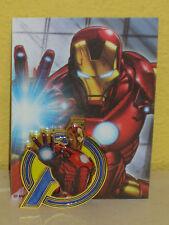 IRON MAN - Marvel Jumbo Metal Pin - EMBOSSED DIE CUT ULTRA RARE - Collector Card