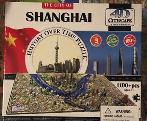 City of Shanghai History Over Time Puzzle 1100 Pcs