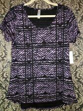 Amazing Burn Out Textured Black & Orchid Pink Medium CLASSIC T tee Lularoe M