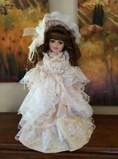 "Collectors Choice Porcelain Doll Collectible Victorian by DAN DEE 16"" tall"