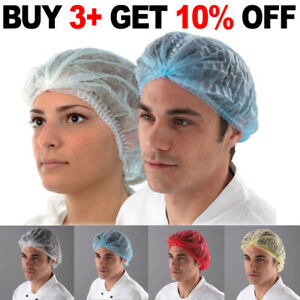 100 Disposable Mob Caps Elasticated Hair Nets Spray Tanning Cap Catering Food