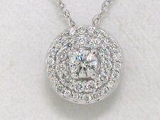 Diamant Brillant Anhänger Weißgold Gold 34 Brillanten total 0,25ct Wesselton