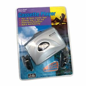 Lenoxx Portable Cassette Player Stereo Headphones Belt Clip Gray 820M 2001 NOS