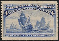 US Sc# 233 *MINT OG H* { JUMBO -XF- CENTERED } BEAUTY FLEET OF COLUMBUS OF 1893