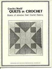 Crochet World QUILTS IN CROCHET Pattern Leaflet