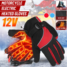 12V Motorcycle Electric Heated Gloves Winter Warmer Hand Outdoor Bike Scooter