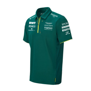 Aston Martin F1 Official Team Polo Shirt Mens 2021 (Cognizant) Free UK Ship