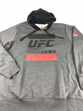 Reebok UFC Official Pull Over Hoodie Charcoal Black NWT Size 2X