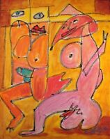 Modernist ABSTRACT Modern Painting FIGURE Expressionist ART FOREPLAY FOLTZ