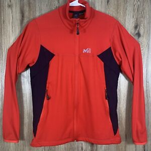 Millet Great Alps Fleece Thermal Jacket Mountain Experience Mens Large Red Clean