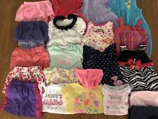 21 Piece Lot Girls 12 Months Carters Garanimals Dresses Outfits Rompers