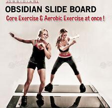 OBSIDIAN Slide Board / Easy Fun Core&Aerobic Exercise! / Crazy Abs&Pure Cardio