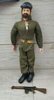 Vintage Action Man Brown Flocked Beard Field Training Exercise outfit