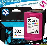 TINTA TRICOLOR 302 ORIGINAL IMPRESORAS HP CARTUCHO COLOR HEWLETT PACKARD F6U65AE