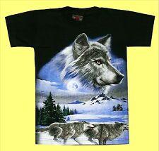 T-shirt Wolf talla s 110*116, lobos Rudel, cabeza de lobo, Husky indios naturaleza Biker
