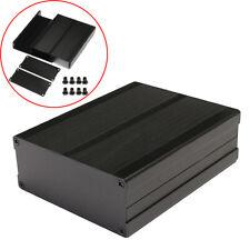 120x97x40mm Split Body Aluminum Box Enclosure Case Project Electronic DIY Black#