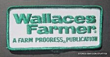 """WALLACE FARMER EMBROIDERED SEW ON PATCH FARM NEWSPAPER PUBLICATION 4 1/4"""" x 2"""""""