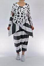 ♦ Chalona Shirt Gr. 2..42,44,46 weiß-schwarz Buchstaben & Blockstreifen ♦