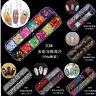 12 Grid Nail Glitter Sequin Mixed Mirror Sugar Peacock Round DIY Flake Decor CN