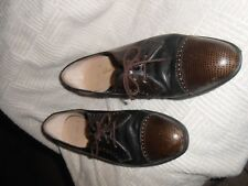 Salvatore Ferragamo 10 4A Womens Leather Tie Up Oxford Shoes Wedge
