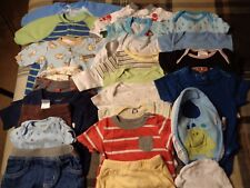 Lot of 24 pieces, boys 0-3 months clothing outfits.