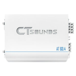 CT Sounds AT-60.4AB Car Audio Full Range Class AB Amp 4 Ch Speaker Amplifier