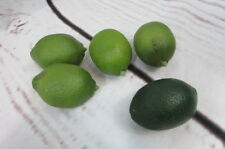 Lot of 5 Faux Artificial Limes Fruit Green