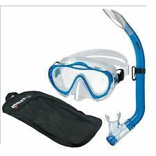 Mares Sharky Childs Silicone Mask and Snorkel Set with Net Bag - Blue