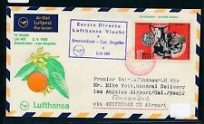62410) LH  FF Amsterdam - Los Angeles USA 2.4.69, SoU ab Sowjetunion UDSSR R!