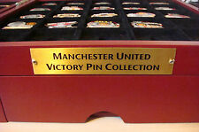 MANCHESTER UNITED Victory Pins FULL SET OF 44 Badges & Case Maker Danbury Mint