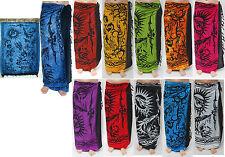 Sarong in verschiedenen Farben,  Pareo Wickeltuch Wandbehang Lungi Sarongs Tuch